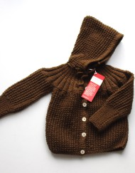aunt jane baby coat chocolate