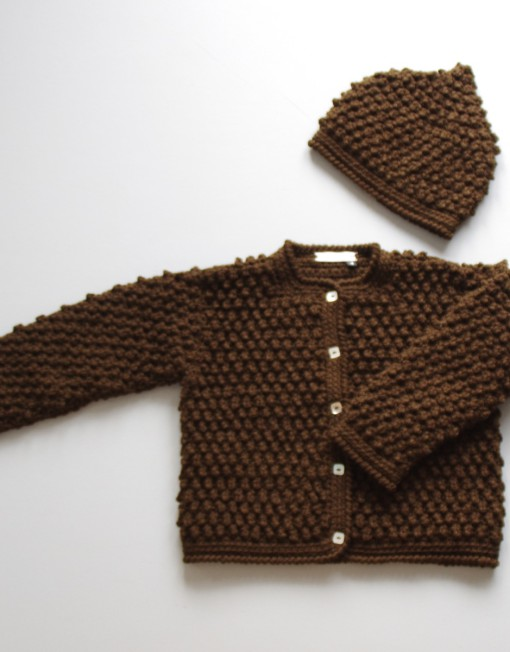 Popcorn cardigan & beany chocolate