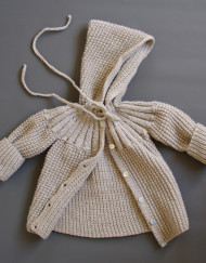 baby coat / pearl gray