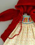 baby coat / red