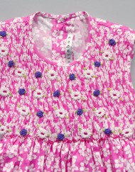 smock dress mini tiaré pink by coquito berlin