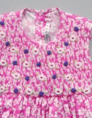 smock dress mini tiaré pink by coquito berlin